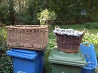 Two baskets used for logs