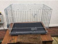 "Dog Travel Cage 22"" x35 1/2"" x 24 1/2"" tall. Hardly used £25. Collection only"