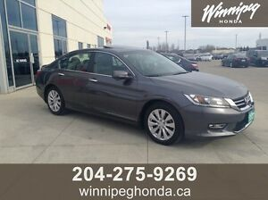 2013 Honda Accord EX-L. Local Manitoba trade, Very low kilometr