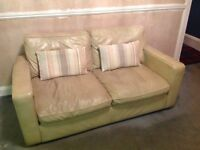 LAURA ASHLEY 2 x two seater leather sofas