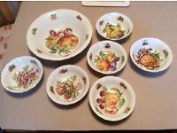 Old style chine fruit salad set