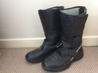 Prexport Ladies leather motorcycle boots size 5