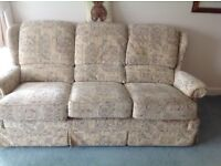 Sofa and armchair for sale good condition . Can deliver for extra cost