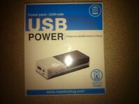 Portable rechargable USB charger 5200mAh (new/unopened)