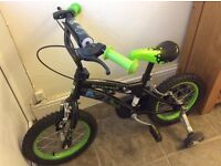 Child's Ben10 bike (age 3-6) with stabilisers