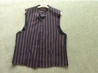 Gents Navy Striped Waistcoat