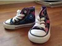 Girls high top converse size 3 brand new without tags