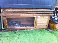 Rabbit hutch with extra runaround underneath for sale
