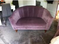 One OR Two Purple velvet two-seater sofas