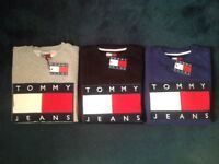 TOMMY JEANS (SWEATSHIRTS) LONG SLEEVE - 3 COLOURS - £40