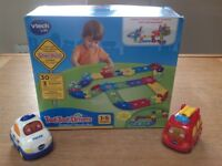 VTech Toot-Toot Drivers Delux Track Set & Two Toot-Toot Vehicles