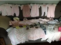 Baby girls clothes bundle newborn and 0-3 months