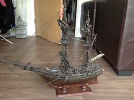 Large hand crafted ship model
