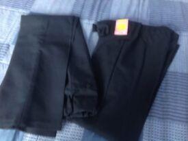 Girls navy school uniform trousers