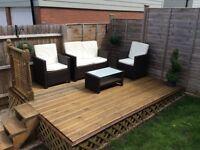 Poly-Rattan Garden Furniture Set