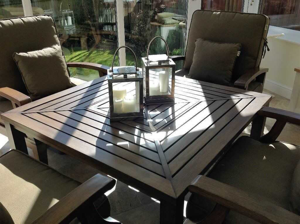 garden conservatory set of table four chairs