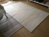 Cream 100% wool John Lewis rug 183 x 122cm