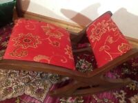Rocking Wooden Footstool