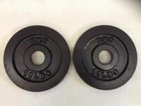 12 x 5kg Bodypower Olympic Cast Iron Weights