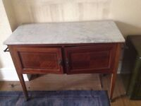 Washstand with marble top