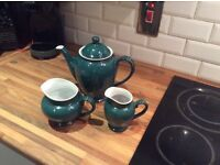 Denby tea pot and two jugs