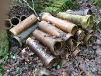10 Used clay drain pipes