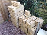 Meadow walling blocks, full & 1/2 Blocks available, never used, left over from project. Quick