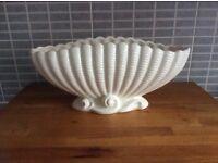 Large Sylvac Shell waves vase flower arrangers bowl. Approx 36.5 cm long x 17 cm high x 14 cm deep