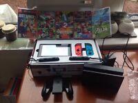 Nintendo Switch Console plus 5 games