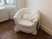 Ikea Tullsta tub chair - Blekinge white cover