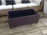 Rattan coffee table for the garden/patio or indoors. £15 Ono tel 01332853305/07966921804