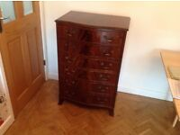 Polished wood drawers ( curved front )
