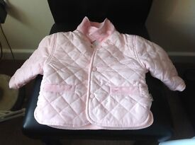 Baby girl pink padded jacket aged 3 months