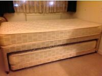 Cream & Gold Hideaway Bed. Hardly used.