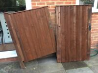 Two wooden gates, vgc, could deliver