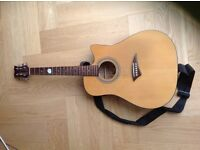 Used Dean 6 string acoustic/electric guitar