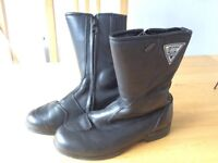 Frank Thomas leather motorcycle boots
