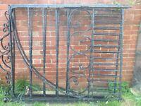 Large iron garden gates