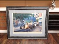 "Framed Picture - Original by Alan Fearnley ""Monaco Double"""
