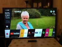 50 INCH LG SMART WIFI HDR LED TV HD READY FREEVIEW MODEL 47LB650V WITH REMOTE CONTROL