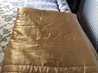 Pale gold satin gold throw/quilt