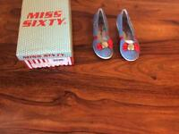 MISS sixty girls denim shoes size UK11 EU30 brand new