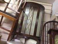 Reduced vintage display cupboard /bookcase