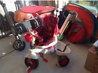 Toddler red smart trike, suitable for age 9mths-3yrs. In great condition