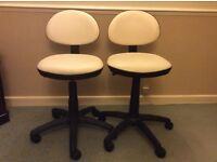 2white swivel chairs exc condition