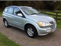 2007 Ssangyong Kyron, MOT Sept-17, Full Service History, Genuine 37,000 miles. Excellent Diesel 4x4