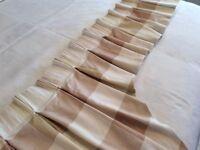 Cream valance curtain