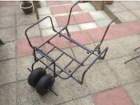 Fishing trolley, for carp fishing, good condition, two wheels at the front