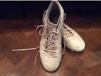 White Adidas X 15.1 Etch boots