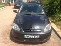 2005(05) Toyota Corolla 1.6 VVT-I 3 door, Manual, Petrol, Low miles, New MOT, Black